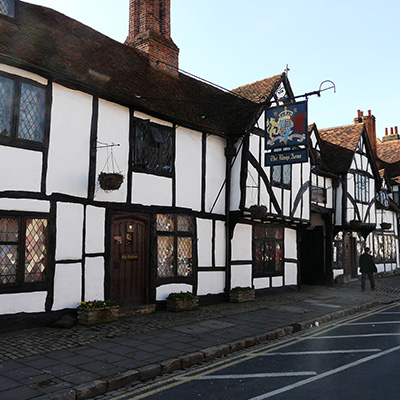 The Old Swan in Amersham Old Town beamed building