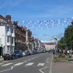 Marlow on bright sunny day with bunting