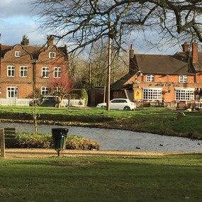 Penn with pond looking towards the Red Lion