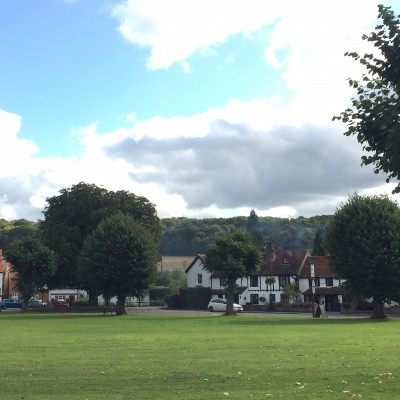Wooburn Green green with views behind