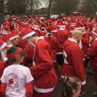 Santa run group santas