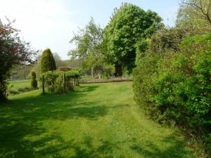 Seer Green garden backing on to open fields