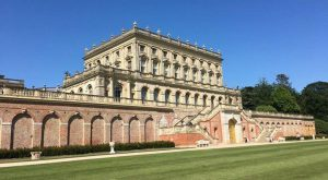 Cliveden House Hotel with blue sky and part of lawn Chiltern Relocation
