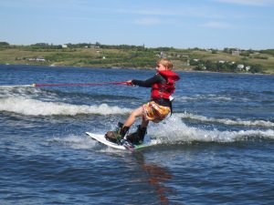 waterskiing man