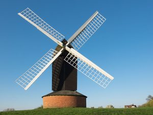 Windmill Brill with blue sky