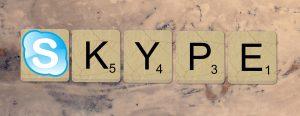 Scrabble letters spelling Skype